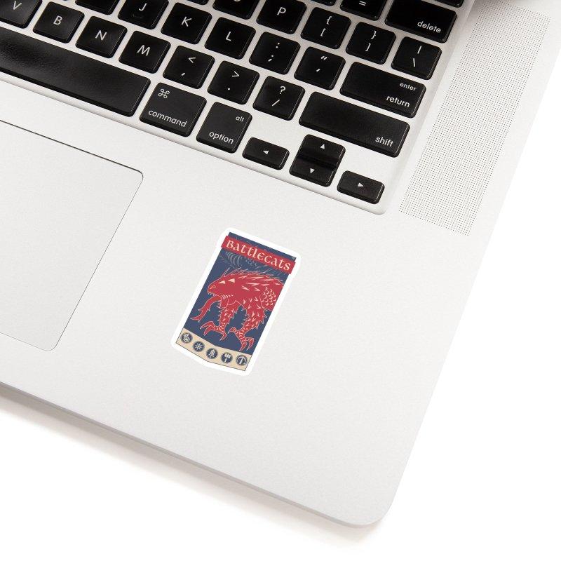 Battlecats - The Dire Beast Accessories Sticker by MadCaveStudios's Artist Shop