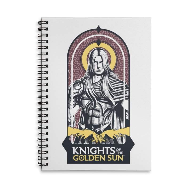 Knights of the Golden Sun: Archangel Michael Accessories Lined Spiral Notebook by Mad Cave Studios's Artist Shop
