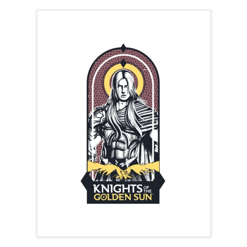 Knights of the Golden Sun: Archangel Michael Home Fine Art Print by Mad Cave Studios's Artist Shop