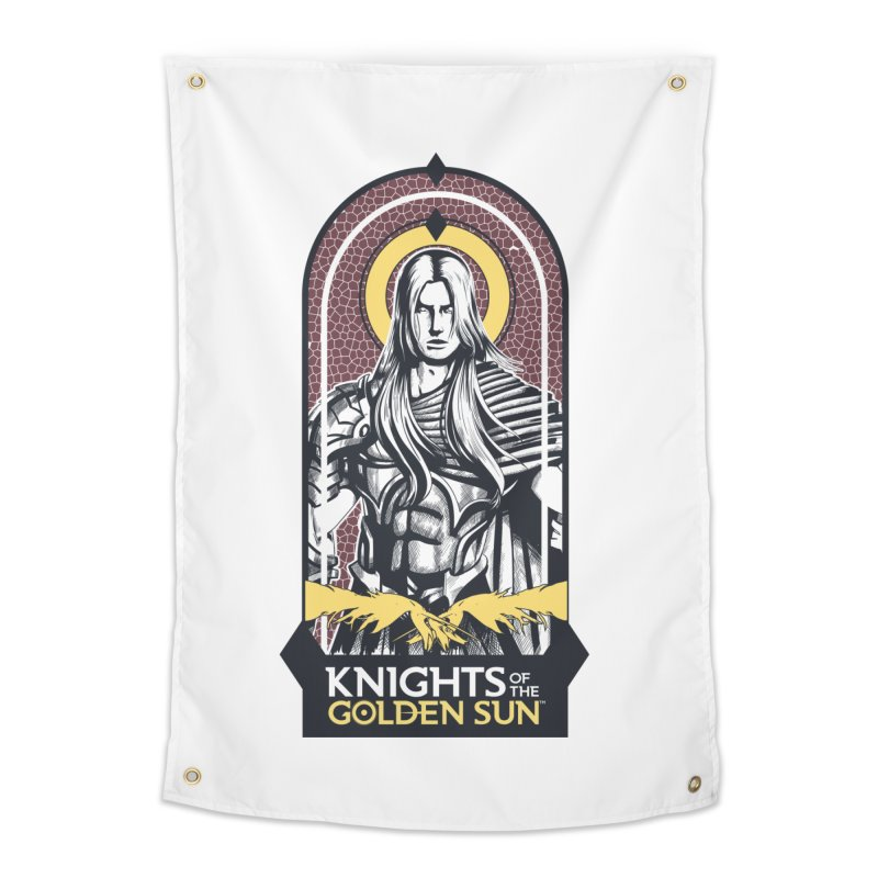 Knights of the Golden Sun: Archangel Michael Home Tapestry by MadCaveStudios's Artist Shop