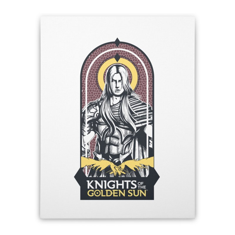 Knights of the Golden Sun: Archangel Michael Home Stretched Canvas by MadCaveStudios's Artist Shop