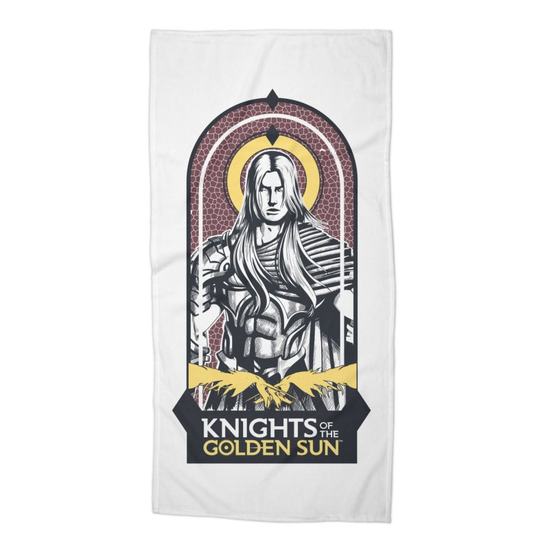 Knights of the Golden Sun: Archangel Michael Accessories Beach Towel by Mad Cave Studios's Artist Shop