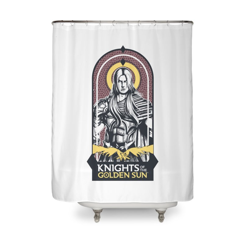 Knights of the Golden Sun: Archangel Michael Home Shower Curtain by MadCaveStudios's Artist Shop