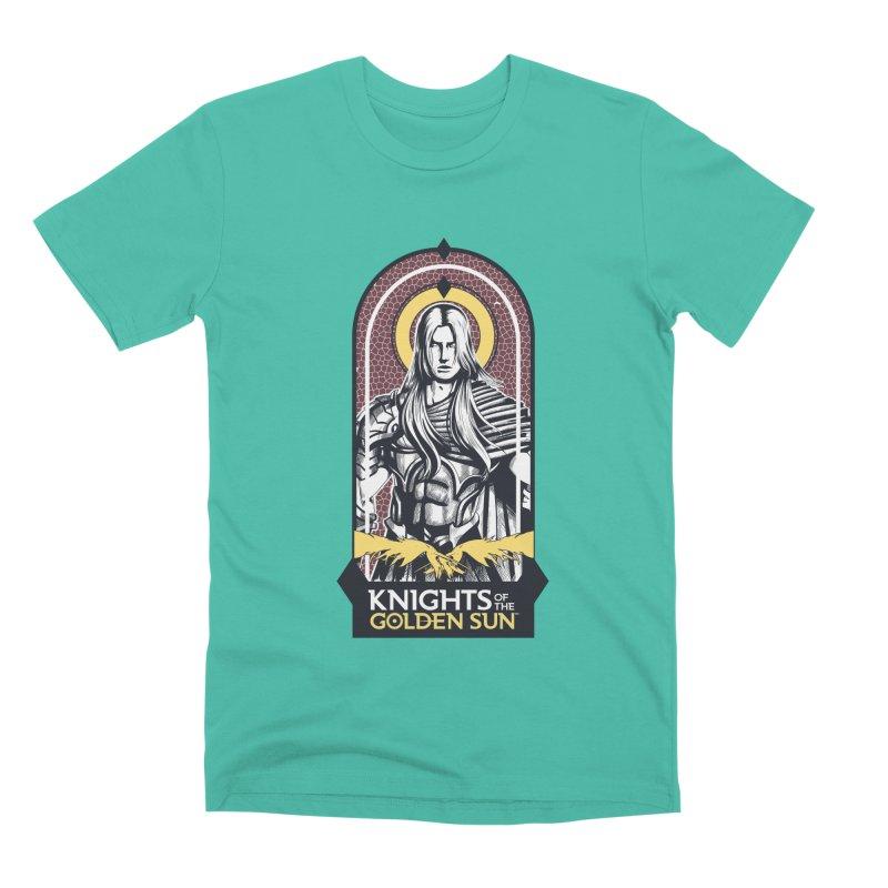 Knights of the Golden Sun: Archangel Michael Men's Premium T-Shirt by Mad Cave Studios's Artist Shop