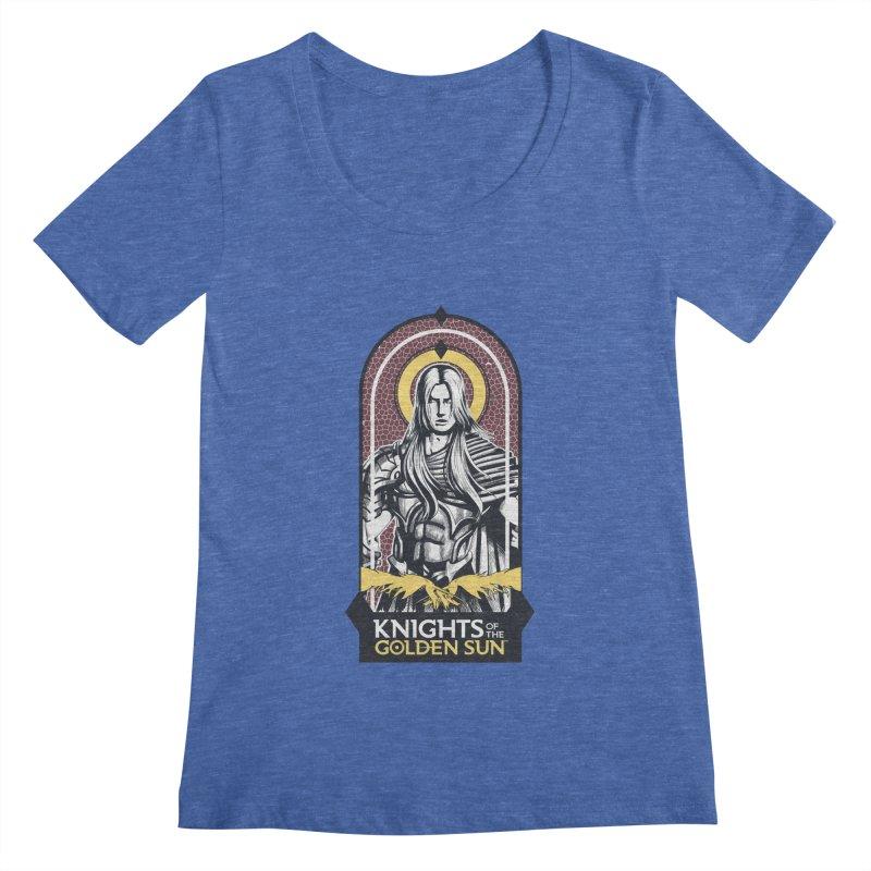 Knights of the Golden Sun: Archangel Michael Women's Regular Scoop Neck by Mad Cave Studios's Artist Shop