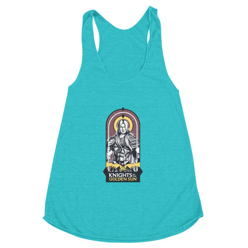 Knights of the Golden Sun: Archangel Michael Women's Racerback Triblend Tank by MadCaveStudios's Artist Shop