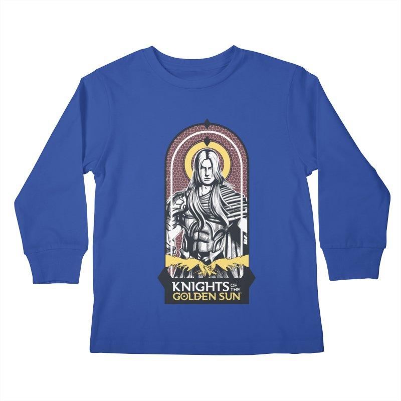 Knights of the Golden Sun: Archangel Michael Kids Longsleeve T-Shirt by MadCaveStudios's Artist Shop