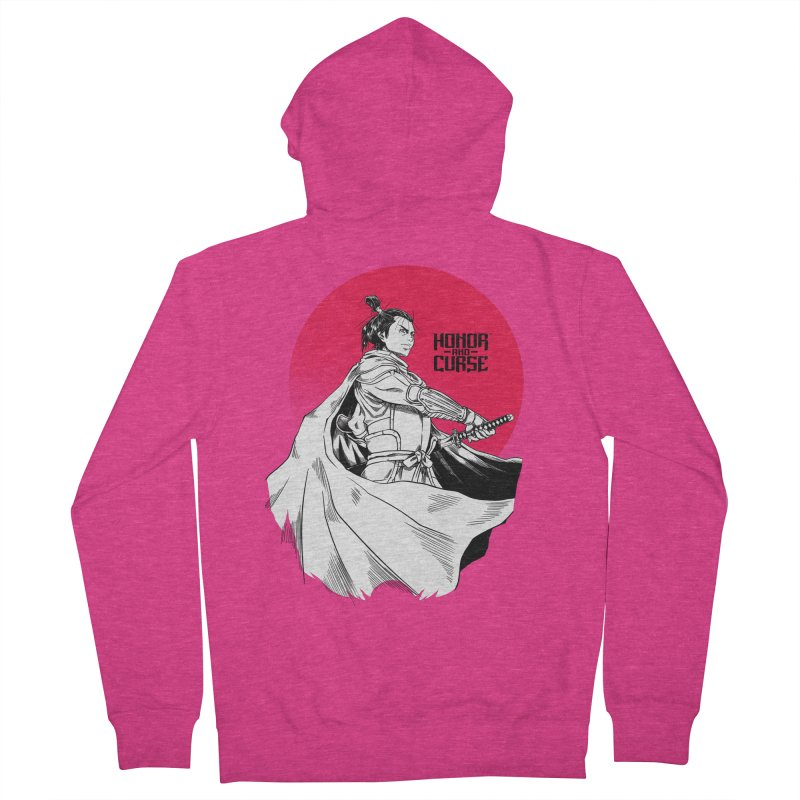 Honor and Curse: Genshi Sakagura Women's French Terry Zip-Up Hoody by Mad Cave Studios's Artist Shop