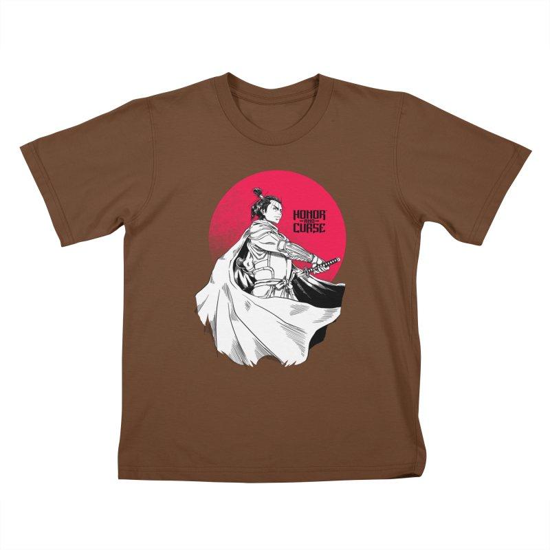 Honor and Curse: Genshi Sakagura Kids T-Shirt by Mad Cave Studios's Artist Shop