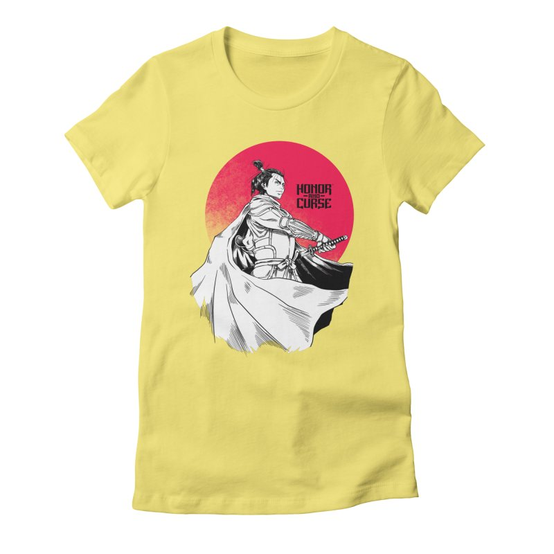 Honor and Curse: Genshi Sakagura Women's Fitted T-Shirt by Mad Cave Studios's Artist Shop