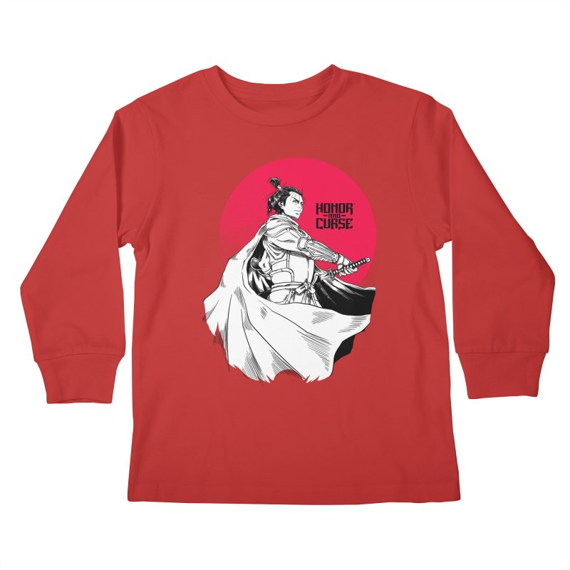 Honor and Curse: Genshi Sakagura Kids Longsleeve T-Shirt by Mad Cave Studios's Artist Shop