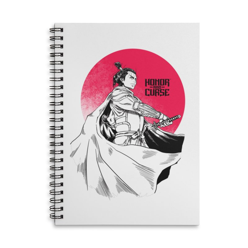 Honor and Curse: Genshi Sakagura Accessories Lined Spiral Notebook by Mad Cave Studios's Artist Shop