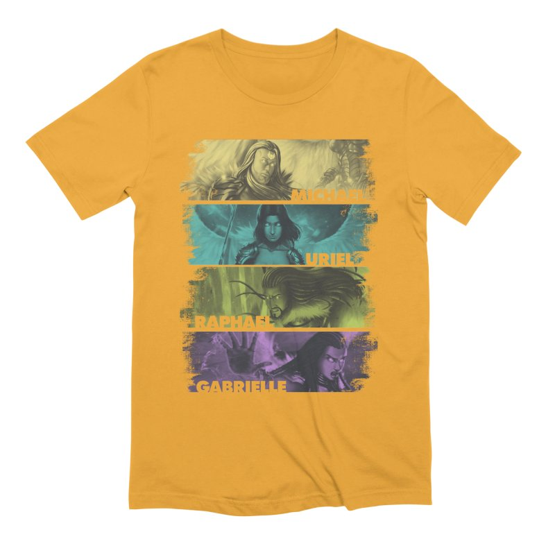 Knights of the Golden Sun: Archangels Men's Extra Soft T-Shirt by Mad Cave Studios's Artist Shop