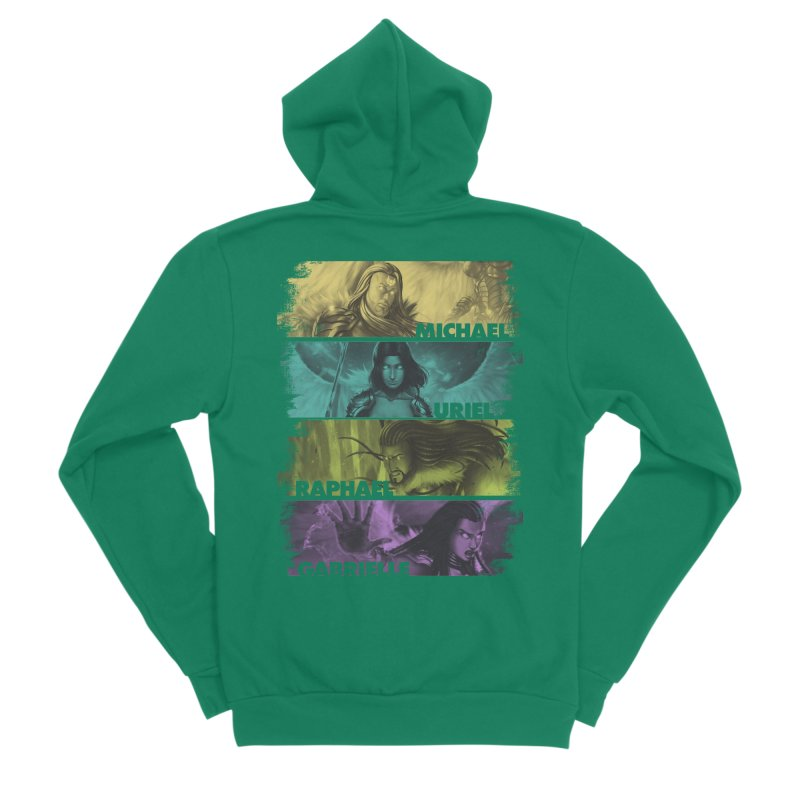 Knights of the Golden Sun: Archangels Women's Sponge Fleece Zip-Up Hoody by Mad Cave Studios's Artist Shop