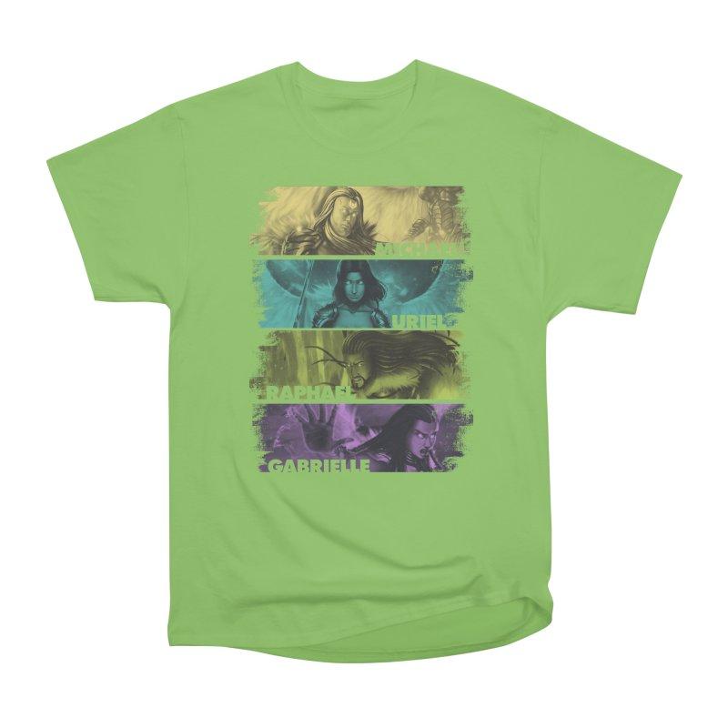 Knights of the Golden Sun: Archangels Women's Heavyweight Unisex T-Shirt by Mad Cave Studios's Artist Shop