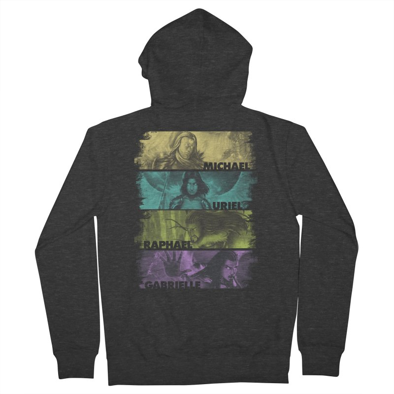 Knights of the Golden Sun: Archangels Women's French Terry Zip-Up Hoody by Mad Cave Studios's Artist Shop