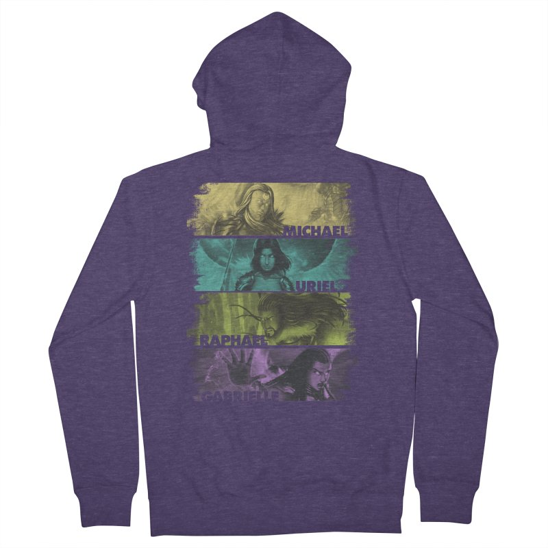 Knights of the Golden Sun: Archangels Men's French Terry Zip-Up Hoody by Mad Cave Studios's Artist Shop