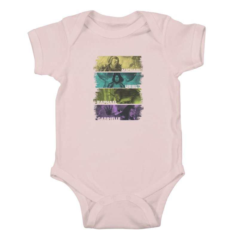Knights of the Golden Sun: Archangels Kids Baby Bodysuit by Mad Cave Studios's Artist Shop