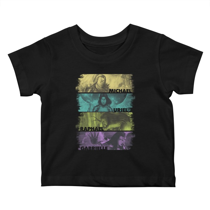 Knights of the Golden Sun: Archangels Kids Baby T-Shirt by Mad Cave Studios's Artist Shop