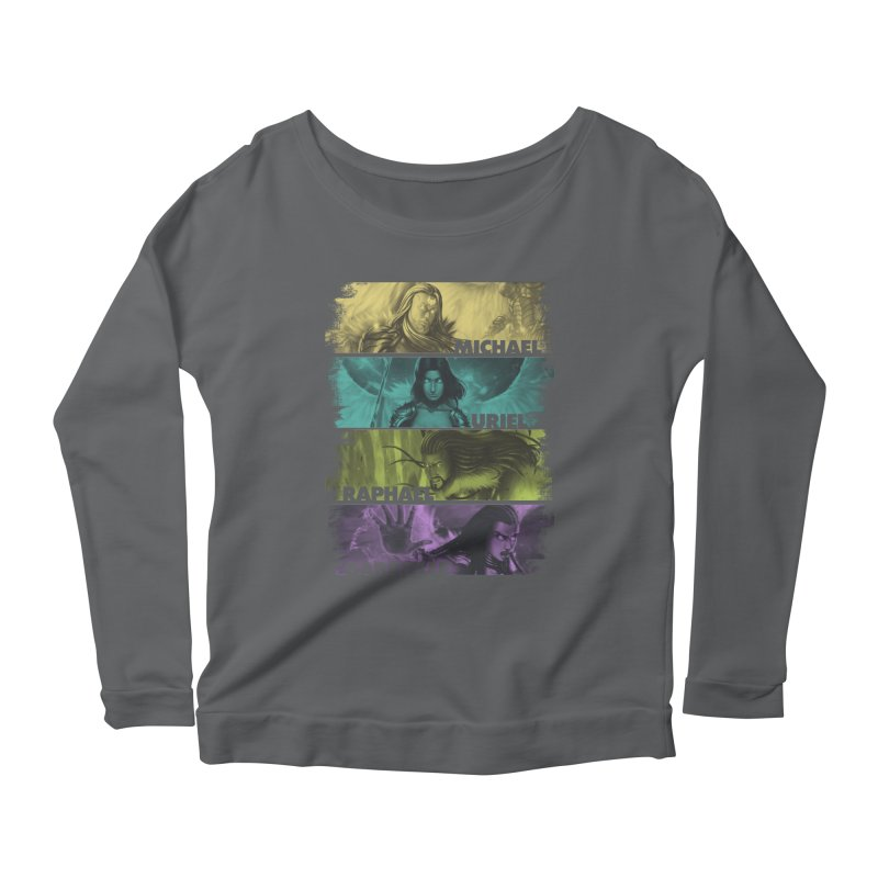 Knights of the Golden Sun: Archangels Women's Scoop Neck Longsleeve T-Shirt by Mad Cave Studios's Artist Shop