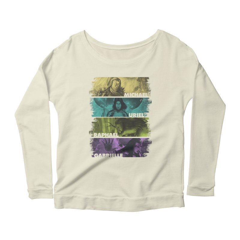 Knights of the Golden Sun: Archangels Women's Scoop Neck Longsleeve T-Shirt by Mad Cave Studios's Artist Shop