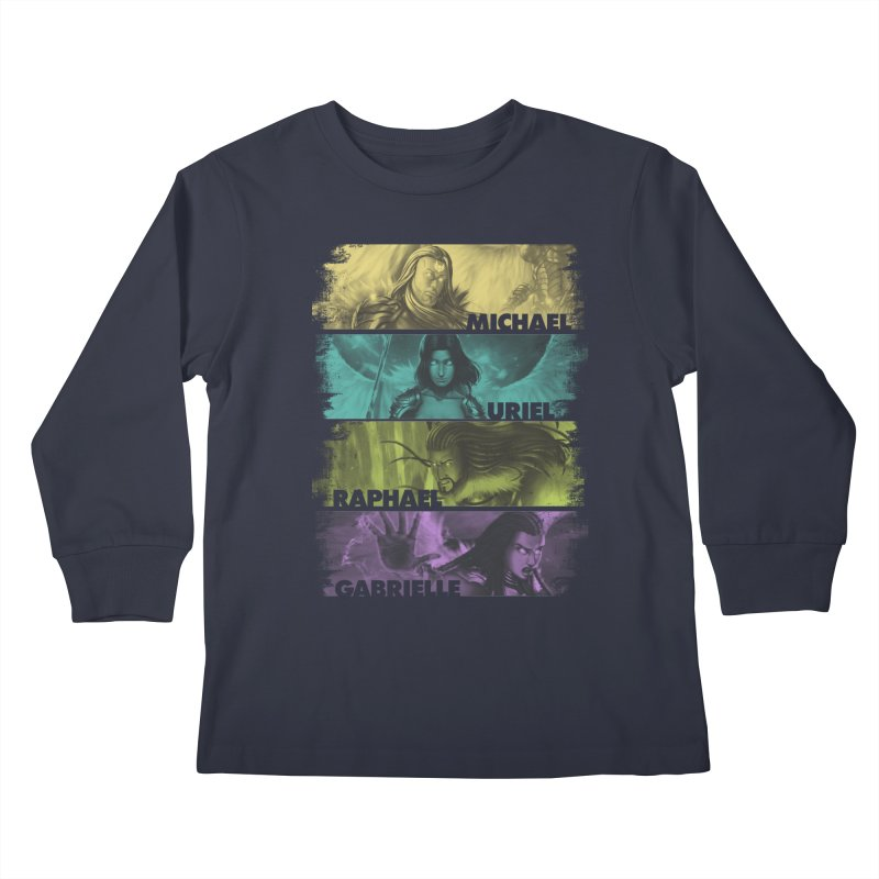 Knights of the Golden Sun: Archangels Kids Longsleeve T-Shirt by Mad Cave Studios's Artist Shop
