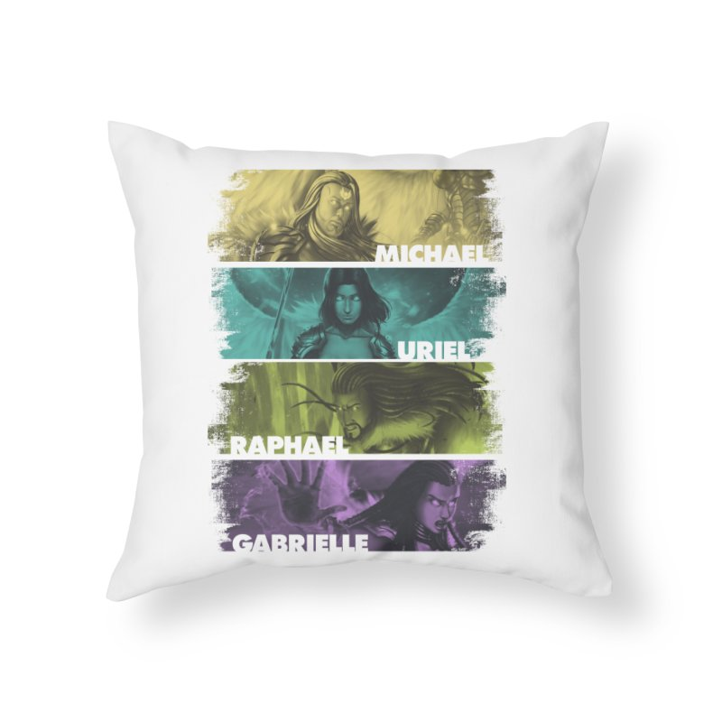 Knights of the Golden Sun: Archangels Home Throw Pillow by Mad Cave Studios's Artist Shop