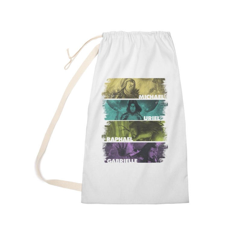 Knights of the Golden Sun: Archangels Accessories Laundry Bag Bag by Mad Cave Studios's Artist Shop