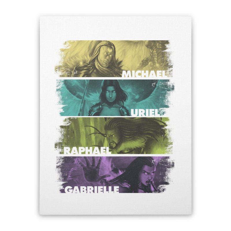 Knights of the Golden Sun: Archangels Home Stretched Canvas by Mad Cave Studios's Artist Shop