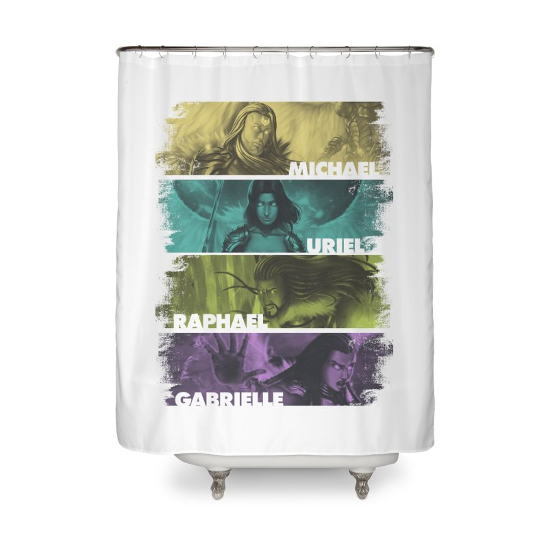 Knights of the Golden Sun: Archangels Home Shower Curtain by Mad Cave Studios's Artist Shop