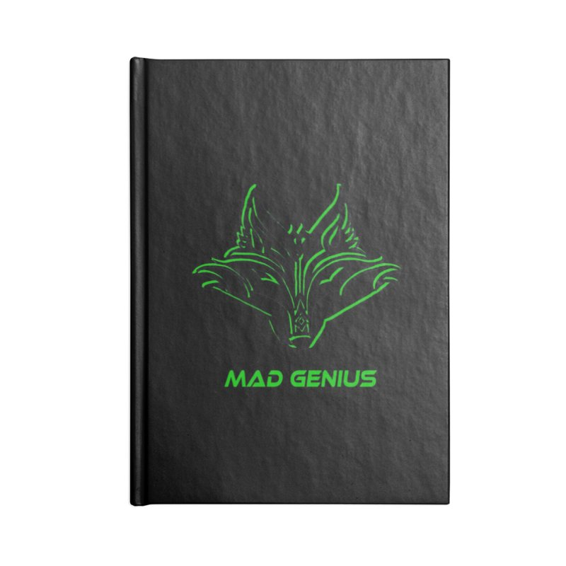 Mad Genius Fox MG in Blank Journal Notebook by The Mad Genius Artist Shop