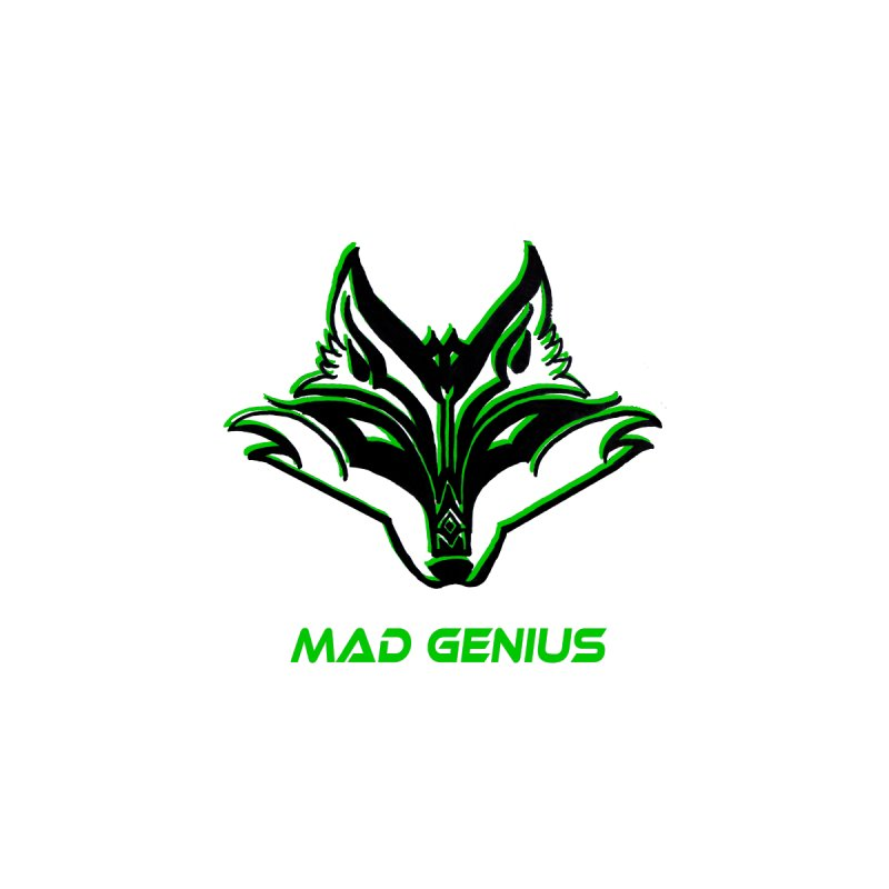 Mad Genius Fox MG Women's Longsleeve T-Shirt by The Mad Genius Artist Shop