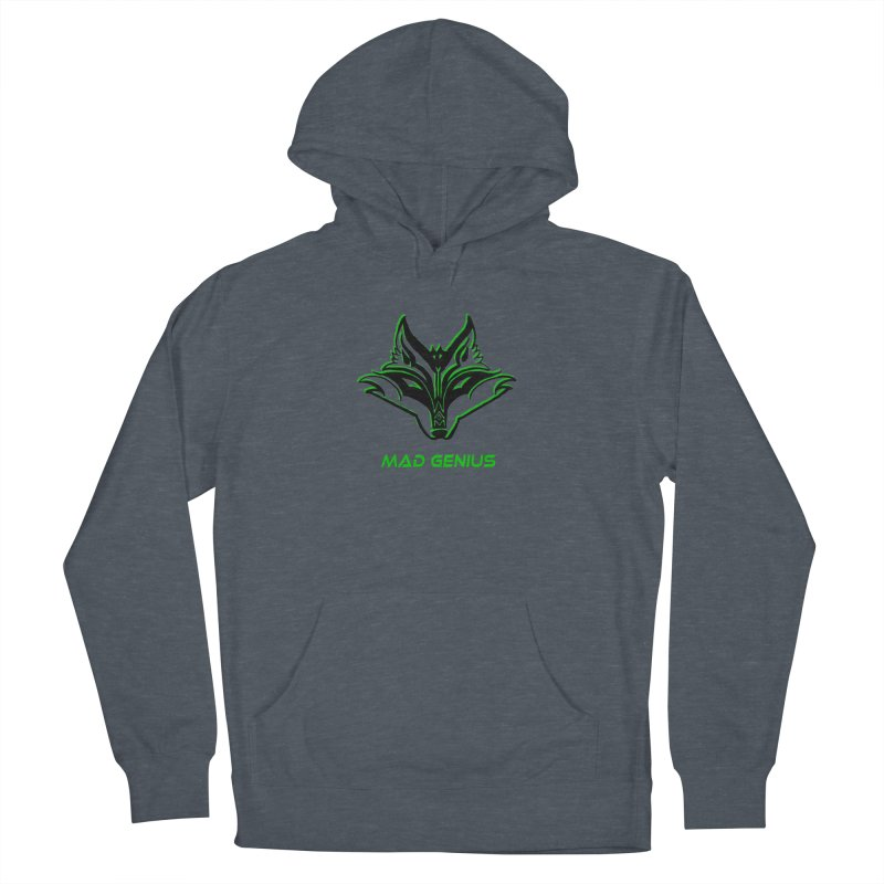Mad Genius Fox MG Women's French Terry Pullover Hoody by The Mad Genius Artist Shop