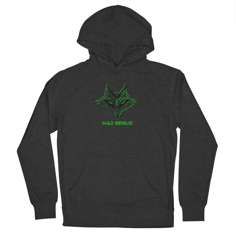 Mad Genius Fox MG Men's French Terry Pullover Hoody by The Mad Genius Artist Shop