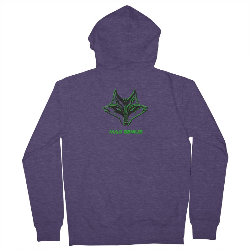 Mad Genius Fox MG Men's French Terry Zip-Up Hoody by The Mad Genius Artist Shop
