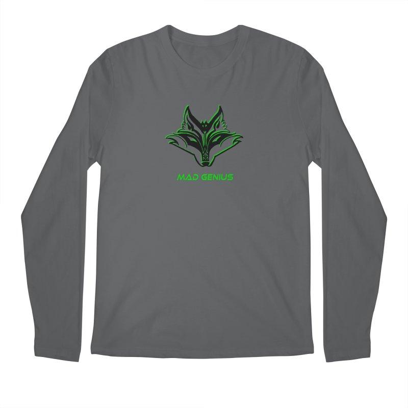 Mad Genius Fox MG Men's Longsleeve T-Shirt by The Mad Genius Artist Shop