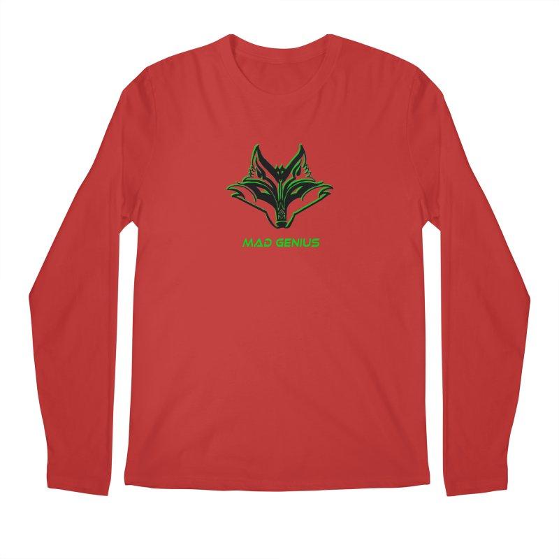 Mad Genius Fox MG Men's Regular Longsleeve T-Shirt by The Mad Genius Artist Shop