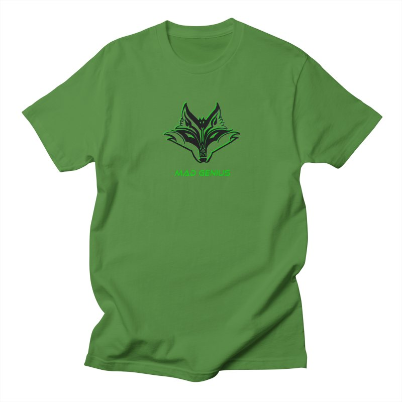 Mad Genius Fox MG Men's Regular T-Shirt by The Mad Genius Artist Shop