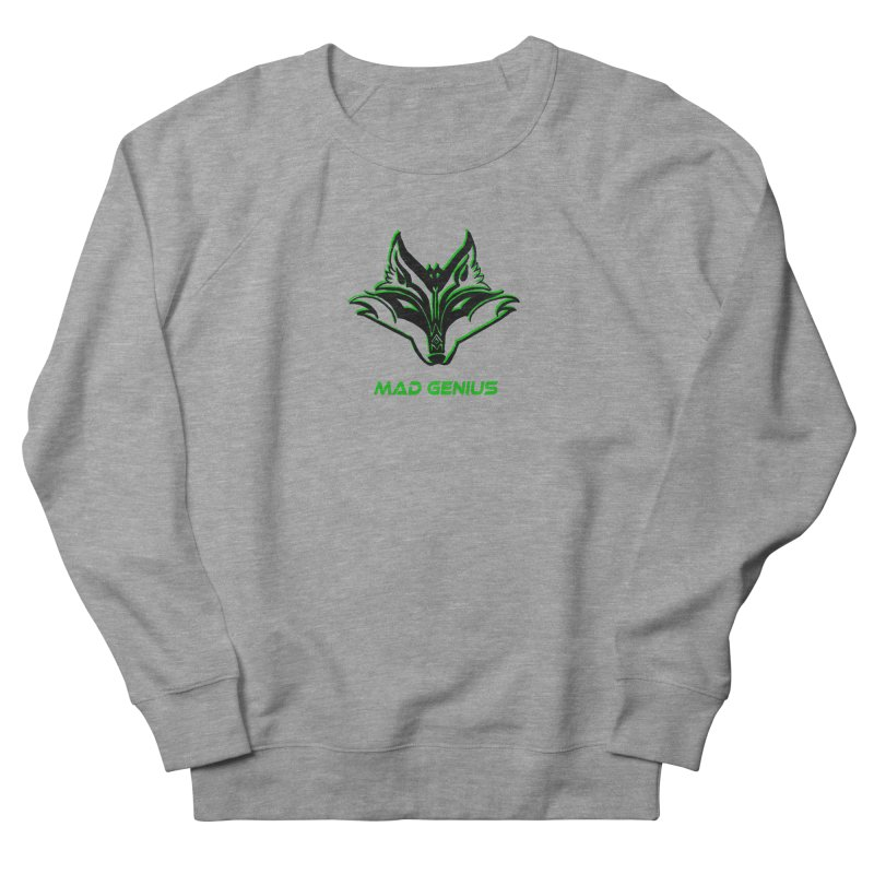 Mad Genius Fox MG Men's French Terry Sweatshirt by The Mad Genius Artist Shop