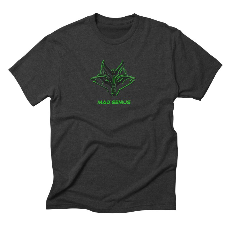 Mad Genius Fox MG Men's Triblend T-Shirt by The Mad Genius Artist Shop