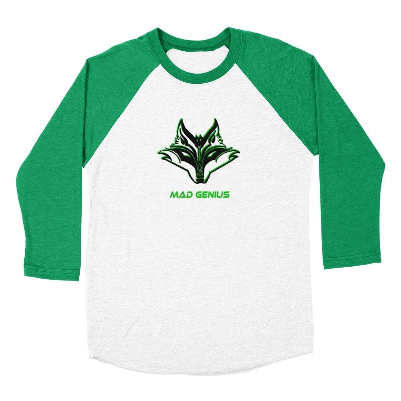 Mad Genius Fox MG Men's Baseball Triblend Longsleeve T-Shirt by The Mad Genius Artist Shop