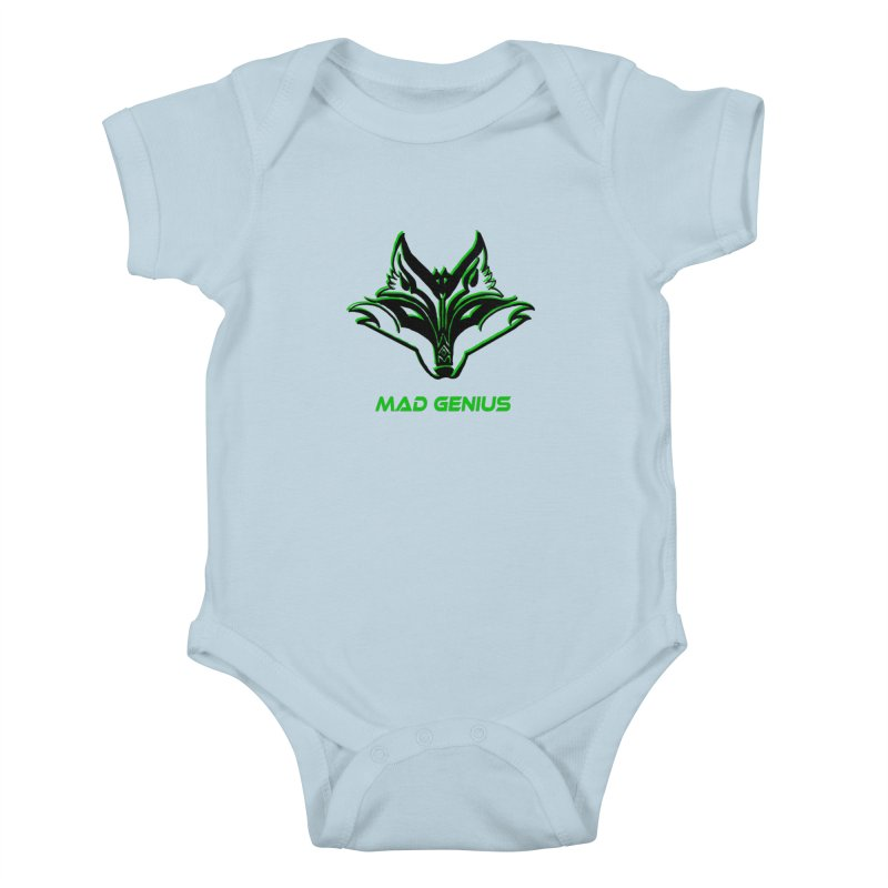 Mad Genius Fox MG Kids Baby Bodysuit by The Mad Genius Artist Shop