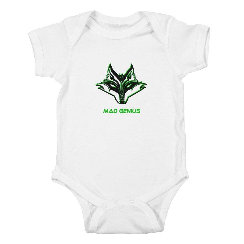 Mad Genius Fox MG Kids Baby Bodysuit by The Mad Genius Artist Shop