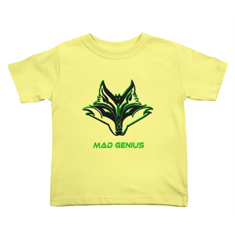 Mad Genius Fox MG Kids Toddler T-Shirt by The Mad Genius Artist Shop