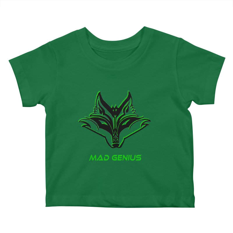 Mad Genius Fox MG Kids Baby T-Shirt by The Mad Genius Artist Shop