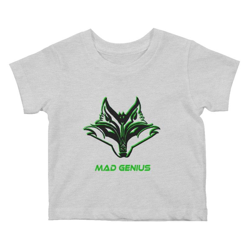 Mad Genius Fox MG Kids Baby T-Shirt by The Mad Genius Artist Shop