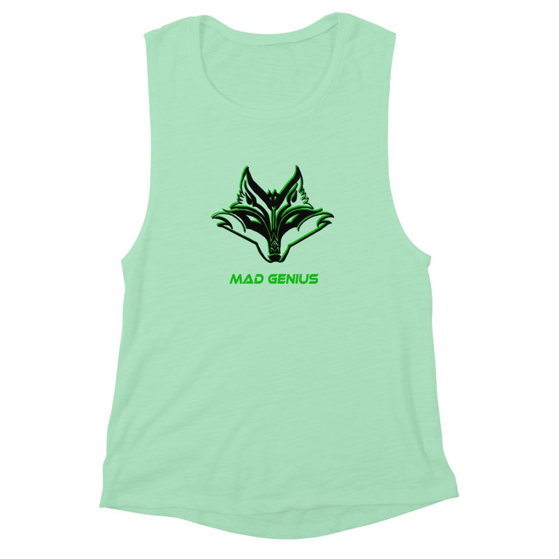Mad Genius Fox MG Women's Muscle Tank by The Mad Genius Artist Shop