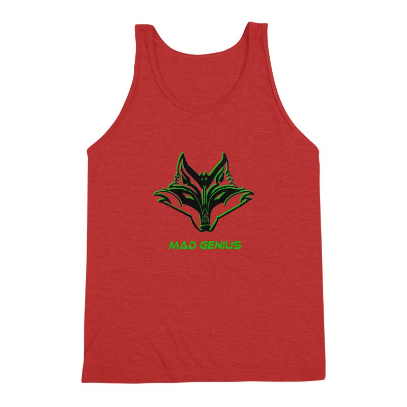 Mad Genius Fox MG Men's Triblend Tank by The Mad Genius Artist Shop