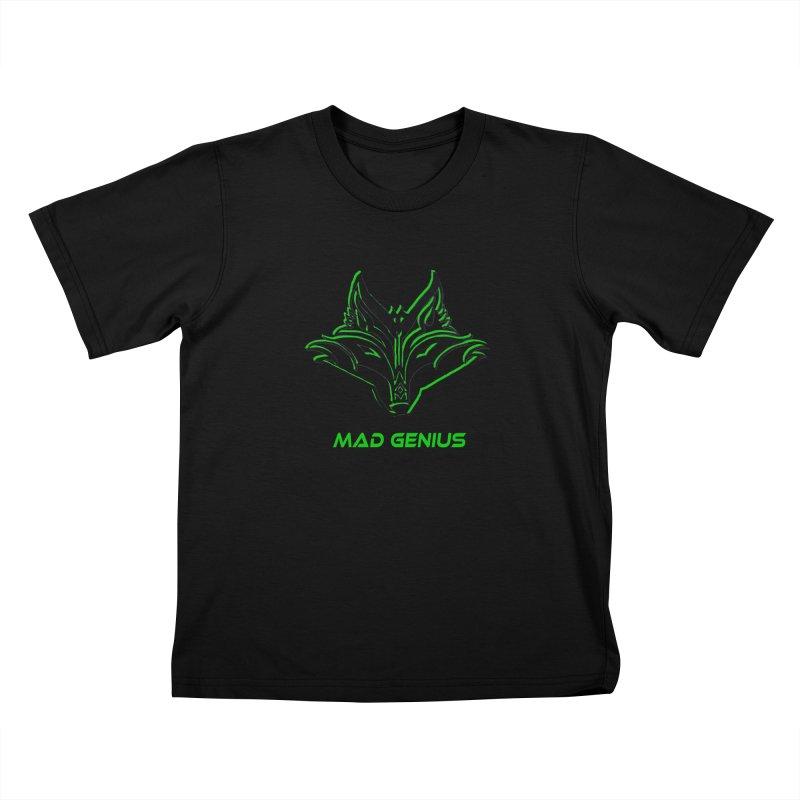 Mad Genius Fox MG Kids T-Shirt by The Mad Genius Artist Shop