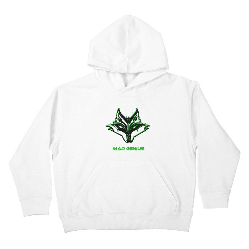 Mad Genius Fox MG Kids Pullover Hoody by The Mad Genius Artist Shop